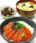 夕食食材宅配サービスの「ヨシケイ」 サーモンとろろ丼