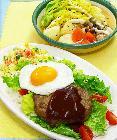 夕食食材宅配サービスの「ヨシケイ」ロコモコ丼